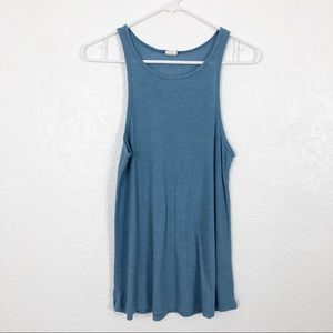 SUN & SHADOW NWOT Rib Knit Tank Light Blue M
